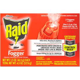 Raid® Concentrated Deep Reach Fogger, 1.5 oz. Aerosol Can, 36 Cans - 695500
