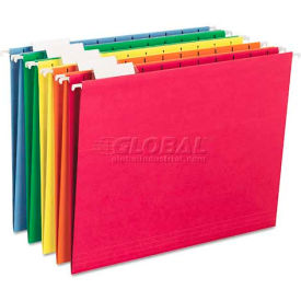 Smead® Hanging File Folders, 1/5 Tab, 11 Point Stock, Letter, Assorted Colors, 25/Box