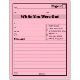 """Tops® While You Were Out 1-Sided Form 4-1/4"""" x 5-1/2"""" 50 Sheets/Pad, 12PK"""