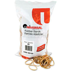 Universal® Rubber Bands, Size 30, 2 x 1/8, 1100 Bands/1lb Pack