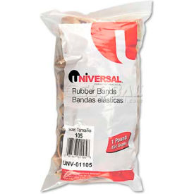 Universal® Rubber Bands, Size 105, 5 x 5/8, 55 Bands/1lb Pack