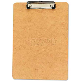 """Universal Clipboard, 1/2"""" Capacity, Holds 8-1/2w x 12h, Brown, 6/Pack"""