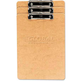 """Universal Recycled Clipboard, 1/2"""" Capacity, Holds 8-1/2w x 14h, Brown, 3/Pack"""