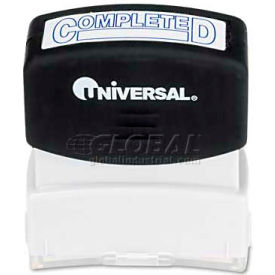 Universal Message Stamp, COMPLETED, Pre-Inked/Re-Inkable, Blue Ink