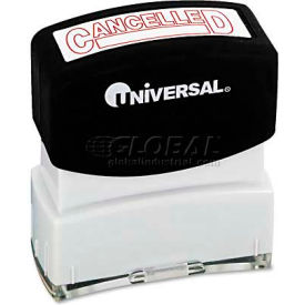 Universal Message Stamp, CANCELLED, Pre-Inked/Re-Inkable, Red