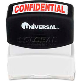 Universal Message Stamp, CONFIDENTIAL, Pre-Inked/Re-Inkable, Red