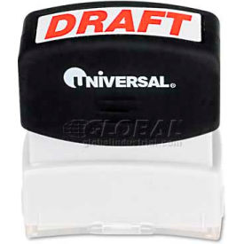 Universal Message Stamp, DRAFT, Pre-Inked/Re-Inkable, Red