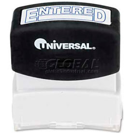 Universal Message Stamp, ENTERED, Pre-Inked/Re-Inkable, Blue
