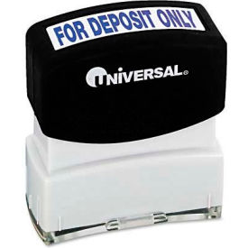 Universal Message Stamp, for DEPOSIT ONLY, Pre-Inked/Re-Inkable, Blue