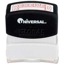Universal Message Stamp, RECEIVED, Pre-Inked/Re-Inkable, Red