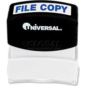 Universal Message Stamp, FILE COPY, Pre-Inked/Re-Inkable, Blue