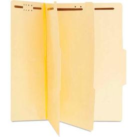 Universal® Manila Classification Folders, Letter, Six-Section, 15/Box