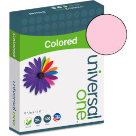 Colored Paper - Universal UNV11202 - Pink - 8-1/2 x 11 - 28 lb. - 500 Sheets/Ream