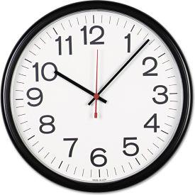 """Universal Indoor/Outdoor Clock, 13-1/2"""", Black"""