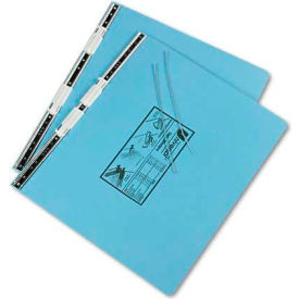 Universal Pressboard Hanging Data Binder, 14-7/8 x 11 Unburst Sheets, Light Blue