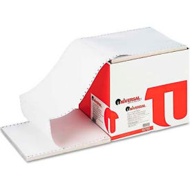 Universal® 4-Part Carbonless Paper, 15lb, 9-1/2 x 11, Perforated, White, 900 Sheets