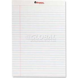 Universal® Perforated Edge Writing Pad, Legal Ruled, Letter, White, 50-Sheet, Dozen
