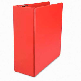 """Universal One D-Ring Binder, 4"""" Capacity, 8-1/2 x 11, Red"""