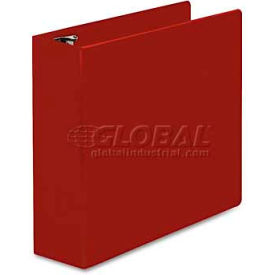 """Universal One D-Ring Binder, 3"""" Capacity, 8-1/2 x 11, Red"""