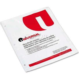 Universal Write-On/Erasable Indexes w/White Tabs, 5-Tab, Letter, White, 5/Set