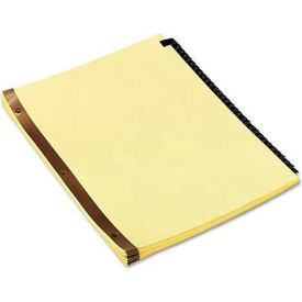Universal One Leather-Look Mylar Tab Dividers, 31 Numbered Tabs, Letter, Black/Gold, Set of 31