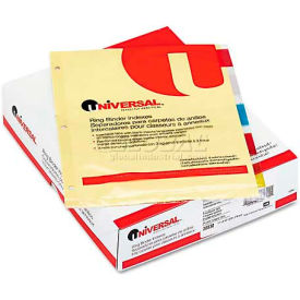 Universal Economical Insertable Index, Multicolor Tabs, 5-Tab, Letter, Buff, 24 Sets/Box