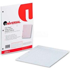 Universal® Mediumweight 16-lb. Filler Paper, 11 x 8-1/2, College Ruled, White, 100 Shts/Pk