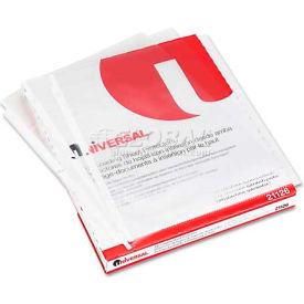 Universal Top-Load Poly Sheet Protectors, Std Gauge, Nonglare, Clear, 50/Box