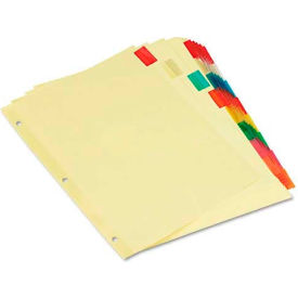 Universal Economical Insertable Index, Multicolor Tabs, 8-Tab, Letter, Buff, 6 Sets/Pack