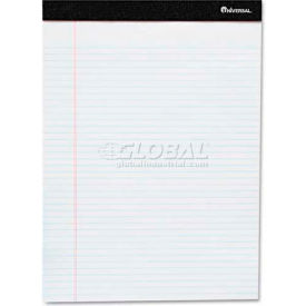 Universal One® Perforated Edge Ruled Writing Pads, Legal, 6 Pads/Pack, White