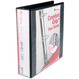 "Universal One Comfort Grip Deluxe Plus D-Ring View Binder, 2"" Capacity, 8-1/2 x 11, Black"