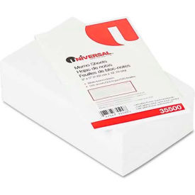 Universal® Loose Memo Sheets, 3 x5, White, 500 Sheets/Pack