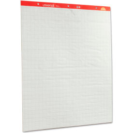 Universal® Recycled Easel Pads, Quadrille Rule, 27 x 34, White, 50-Sheet 2/Ctn
