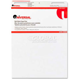 Universal One® Self-Stick Easel Pads, Unruled, 25 x 30, White, 2 30-Sheet Pads/Carton