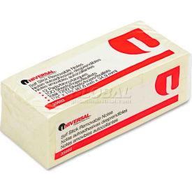 Universal One® Standard Self-Stick Notes, 1-1/2 x 2, Yellow, 12 100-Sheet Pad/Pack