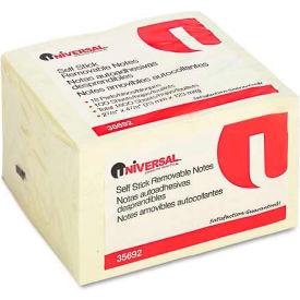 Universal® Standard Self-Stick Notes, 3 x 5, Yellow, 18 100-Sheet Pads/Pack