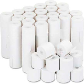 "Universal® Adding Machine/Calculator Roll, 16 lb, 1/2"" Core, 2-1/4"" x 126 ft, White, 100/CT"