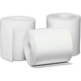 """Universal One® Single-Ply Thermal Paper Rolls, 3-1/8"""" x 230 ft, White, 50/Carton"""