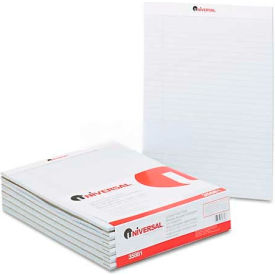 Universal® Colored Perforated Note Pads, 8-1/2 x 11, Gray, 50-Sheet, Dozen