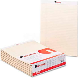 Universal® Colored Perforated Note Pads, 8-1/2 x 11, Ivory, 50-Sheet, Dozen