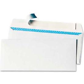 Universal One® Peel Seal Strip Business Envelope, Security Tint, #10, White, 100/Box