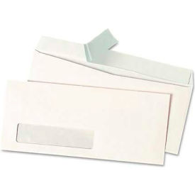 Universal One® Peel Seal Strip Business Envelope, #10, Window, White, 500/Box
