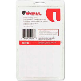 Universal® Permanent Self-Adhesive Color-Coding Labels, 3/4in dia, White, 1008/Pack