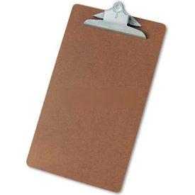 "Universal Hardboard Clipboard, 1-1/4"" Capacity, Holds 8-1/2w x 14h, Brown"