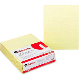 Universal® Glue Top Writing Pads, Narrow Rule, Ltr, Canary, 50-Sheet Pads/Pack, Dozen