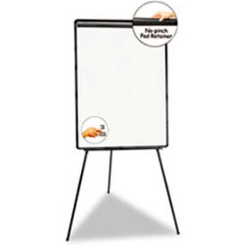 "Universal® Lightweight Tripod Style Dry Erase Easel, 29""W x 41""H, White Laminate"