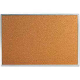 "Universal® Bulletin Board, Aluminum Frame, 36""W x 24""H, Natural"