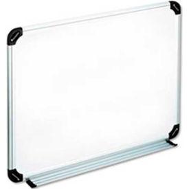 "Universal® Dry Erase Board, Aluminum/Plastic Frame, 24""W x 18""H, White Melamine"
