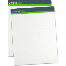 Universal One® Sugarcane Based Easel Pads, 1 Inch Rule, 27 x 34, White, 2 50-Sheet Pads/Pack