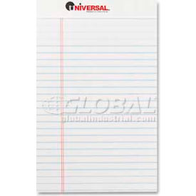 Universal® Perforated Edge Writing Pad, Jr. Legal Rule, 5 x 8, White, 50-Sheet, Dozen